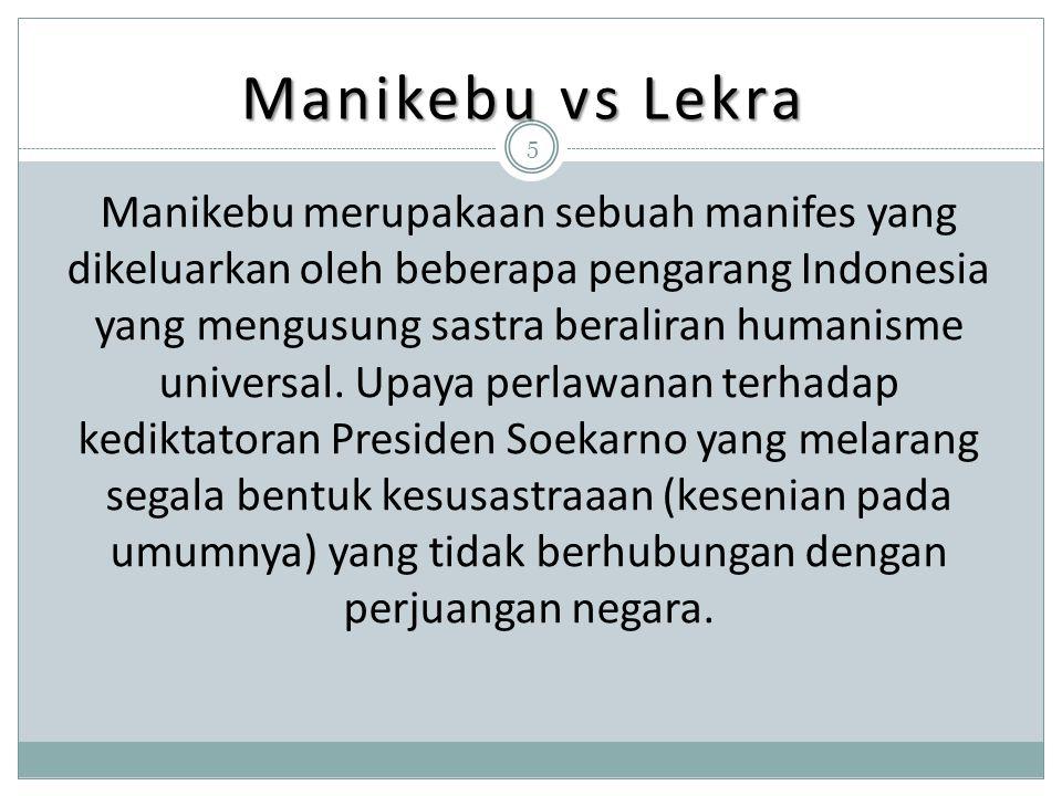 Manikebu vs Lekra