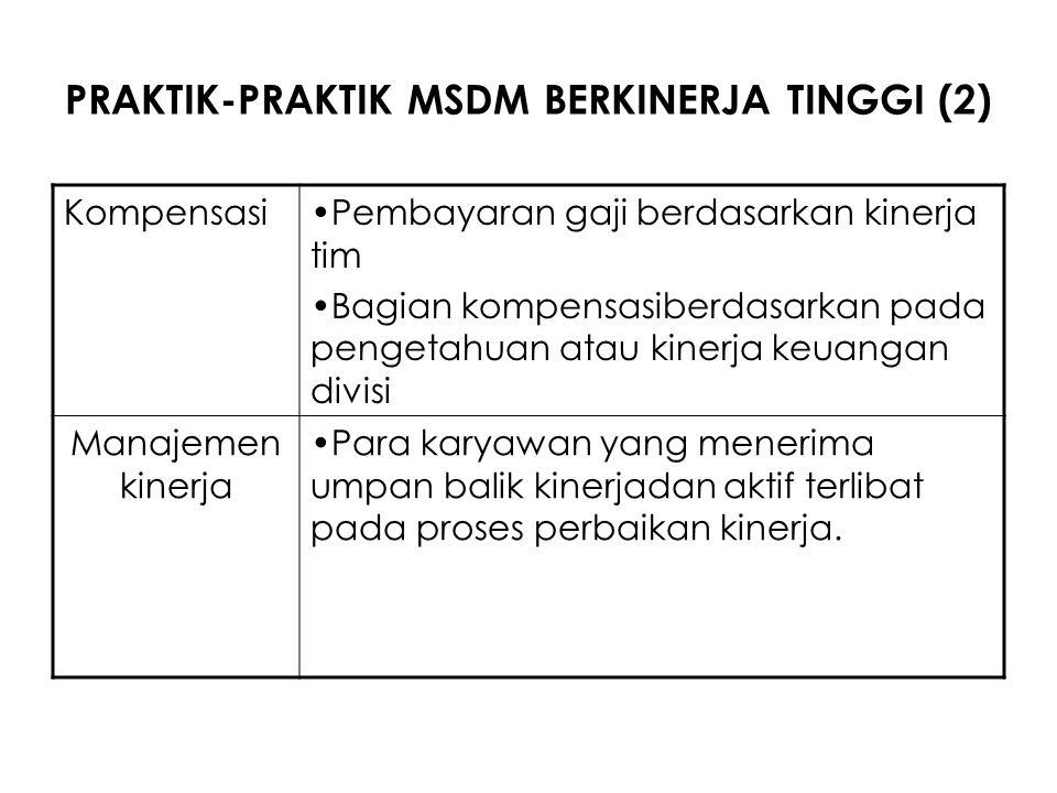 PRAKTIK-PRAKTIK MSDM BERKINERJA TINGGI (2)