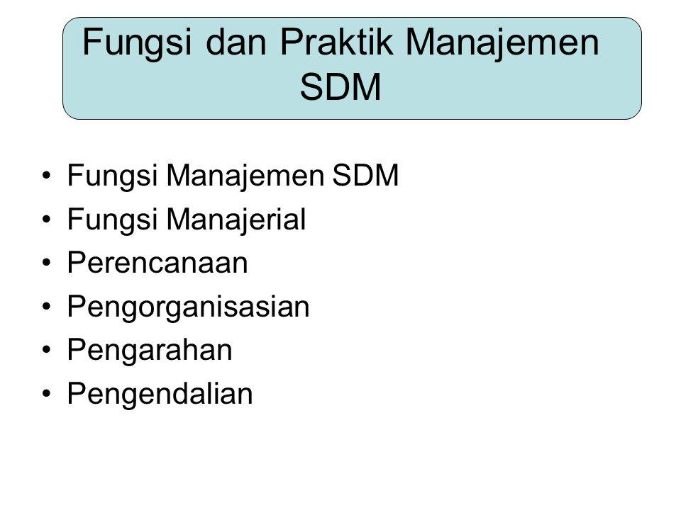 Fungsi dan Praktik Manajemen SDM