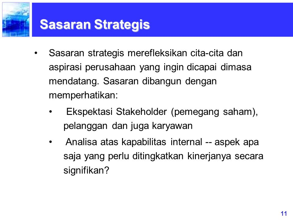 Sasaran Strategis