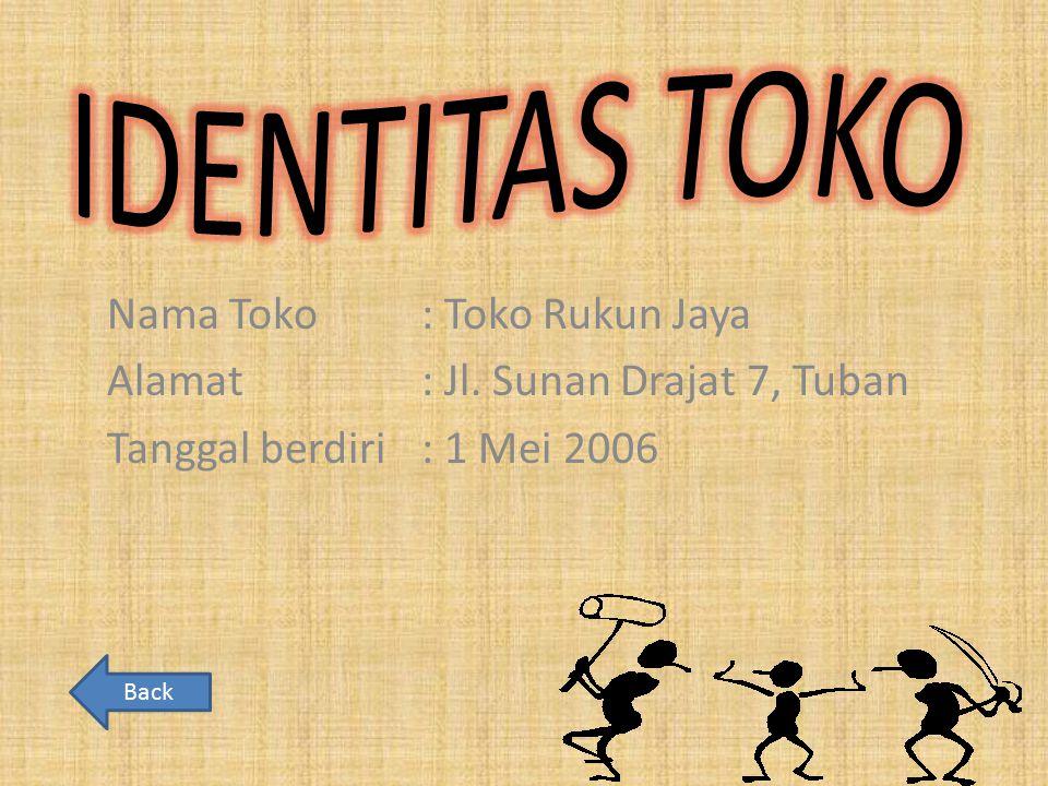 IDENTITAS TOKO Nama Toko : Toko Rukun Jaya