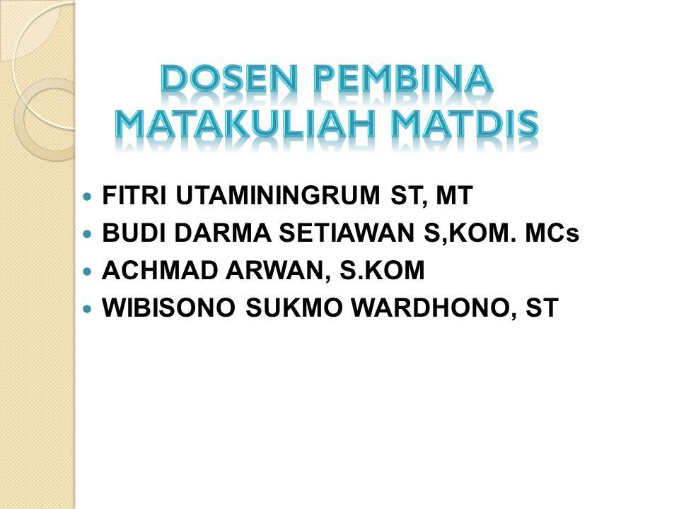 DOSEN PEMBINA MATAKULIAH MATDIS