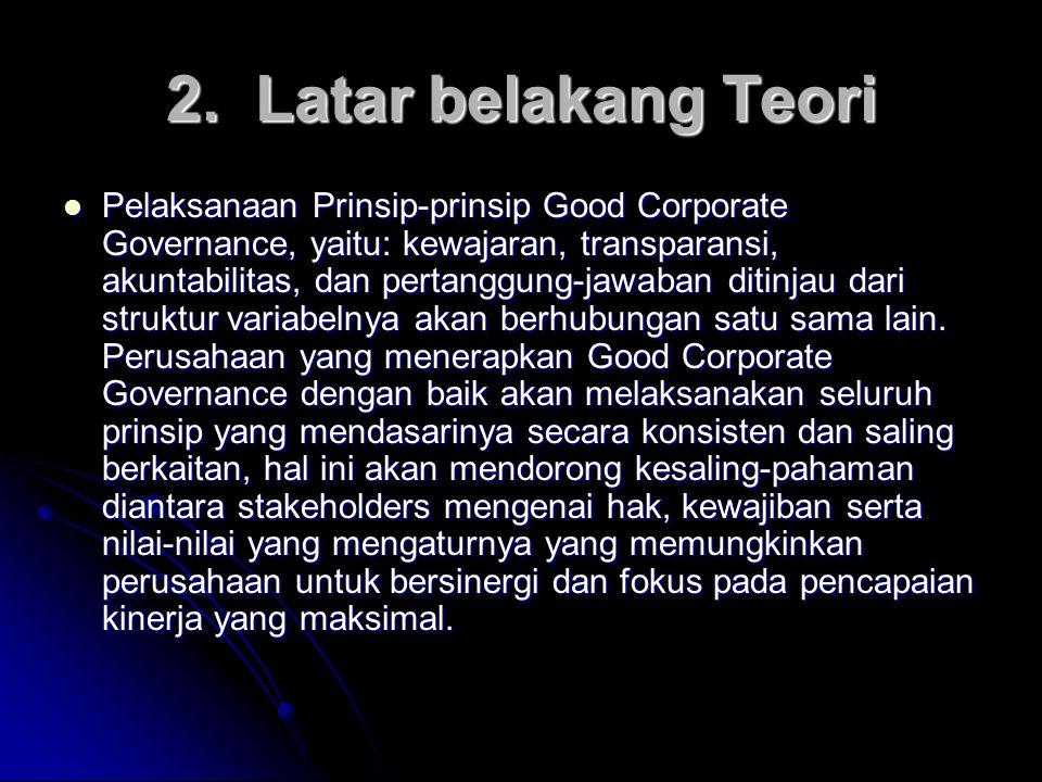 2. Latar belakang Teori