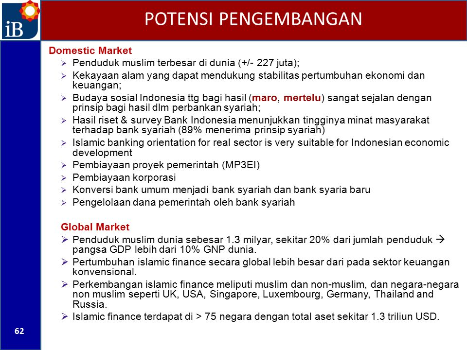 POTENSI PENGEMBANGAN Domestic Market