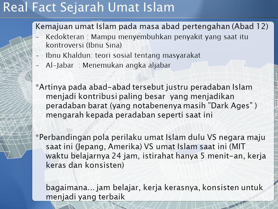 Real Fact Sejarah Umat Islam