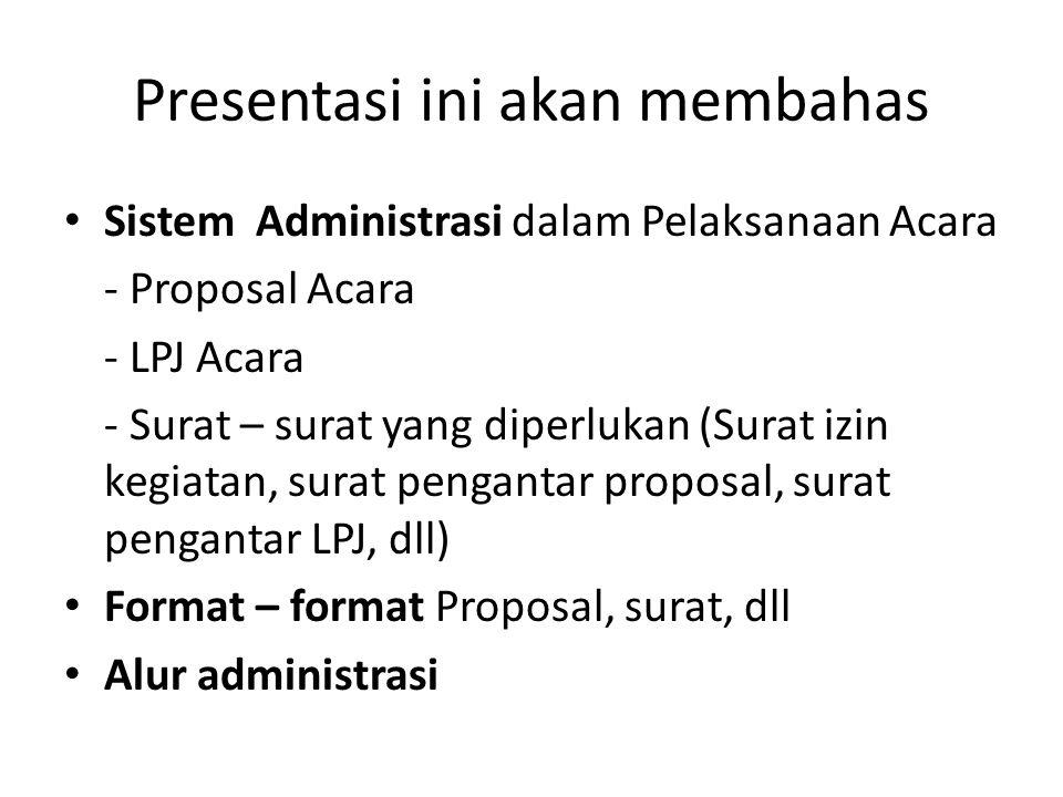 Presentasi ini akan membahas