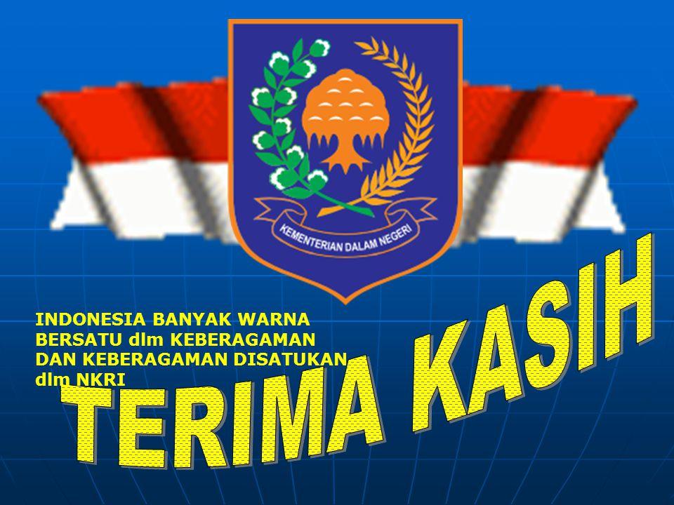 TERIMA KASIH INDONESIA BANYAK WARNA BERSATU dlm KEBERAGAMAN