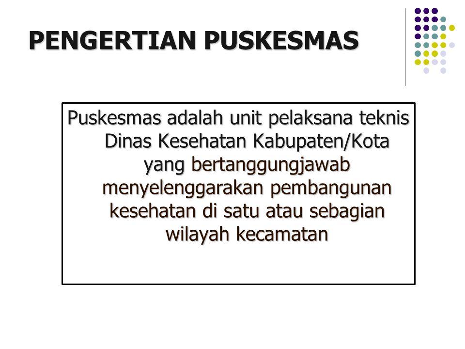 PENGERTIAN PUSKESMAS