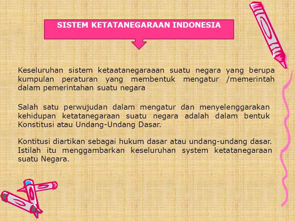 SISTEM KETATANEGARAAN INDONESIA