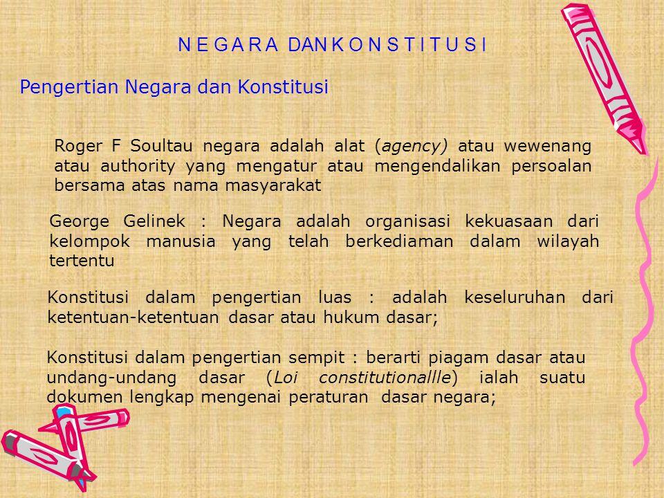 Pengertian Negara dan Konstitusi