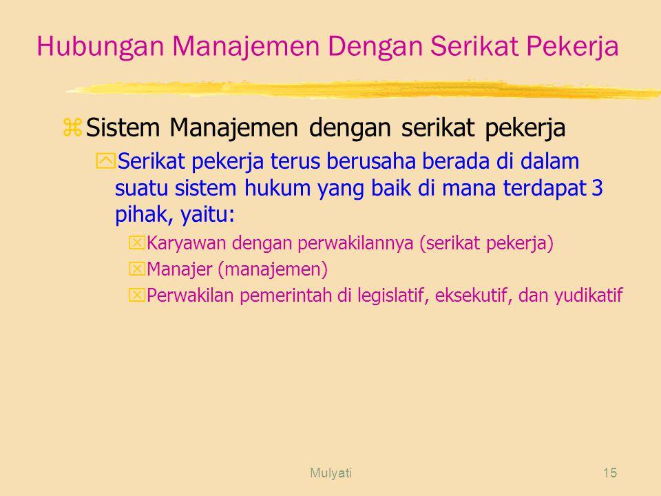 Hubungan Manajemen Dengan Serikat Pekerja