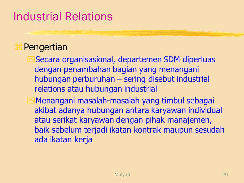 Industrial Relations Pengertian