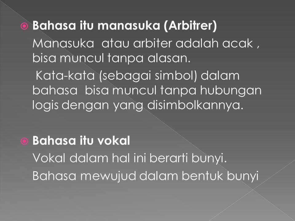 Bahasa itu manasuka (Arbitrer)