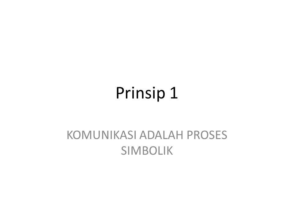 KOMUNIKASI ADALAH PROSES SIMBOLIK