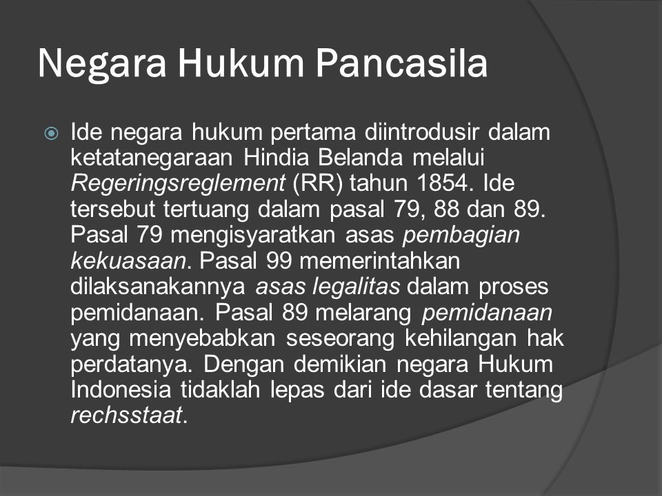 Negara Hukum Pancasila