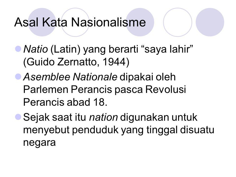 Asal Kata Nasionalisme