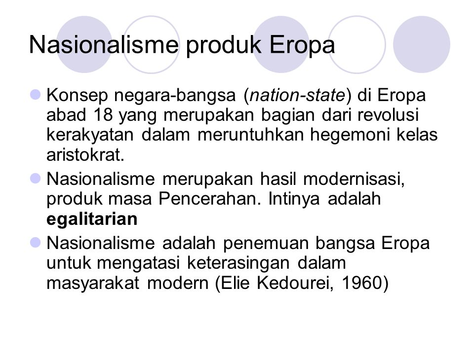Nasionalisme produk Eropa