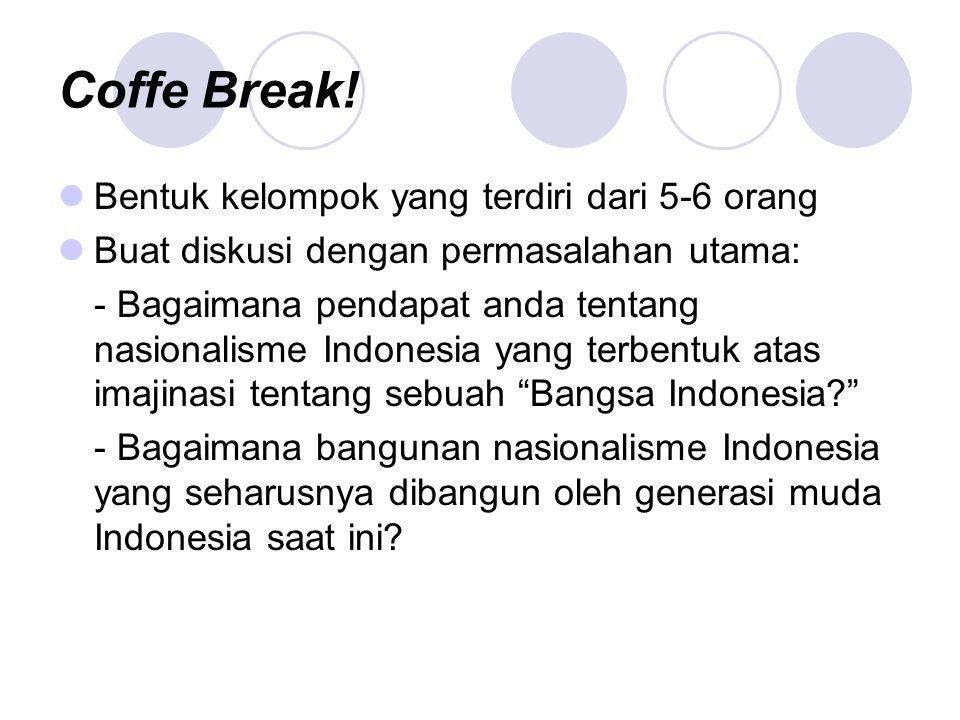 Coffe Break! Bentuk kelompok yang terdiri dari 5-6 orang