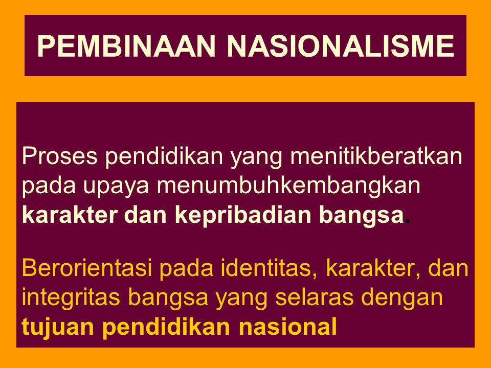PEMBINAAN NASIONALISME
