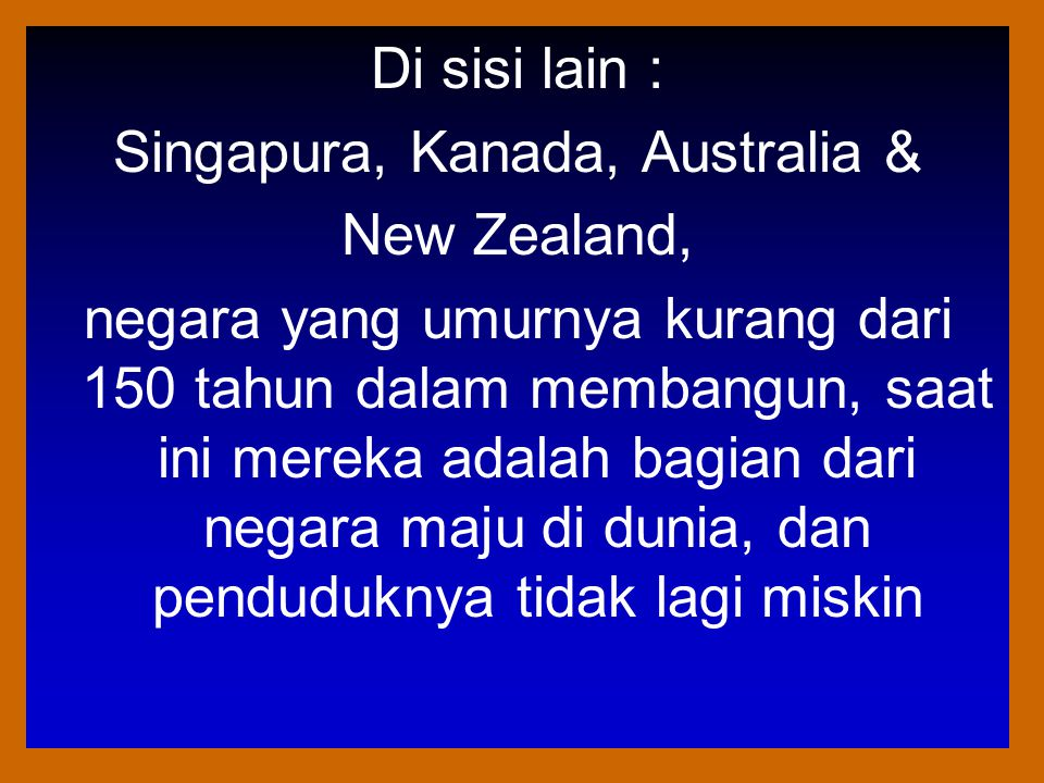 Singapura, Kanada, Australia &