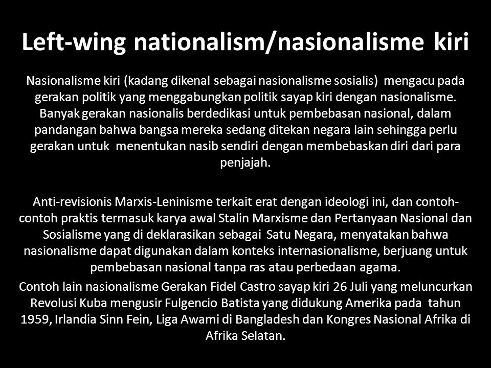 Left-wing nationalism/nasionalisme kiri