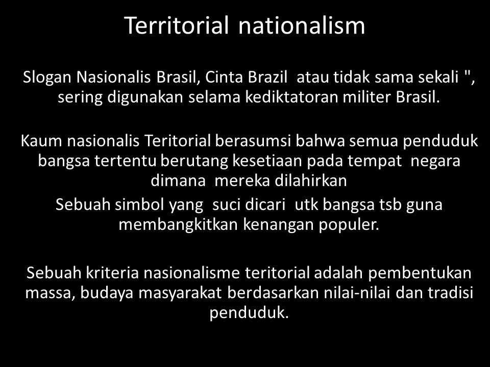 Territorial nationalism