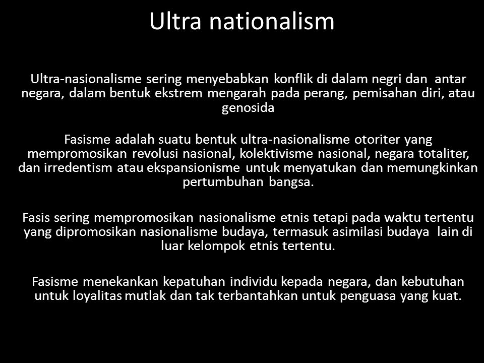 Ultra nationalism