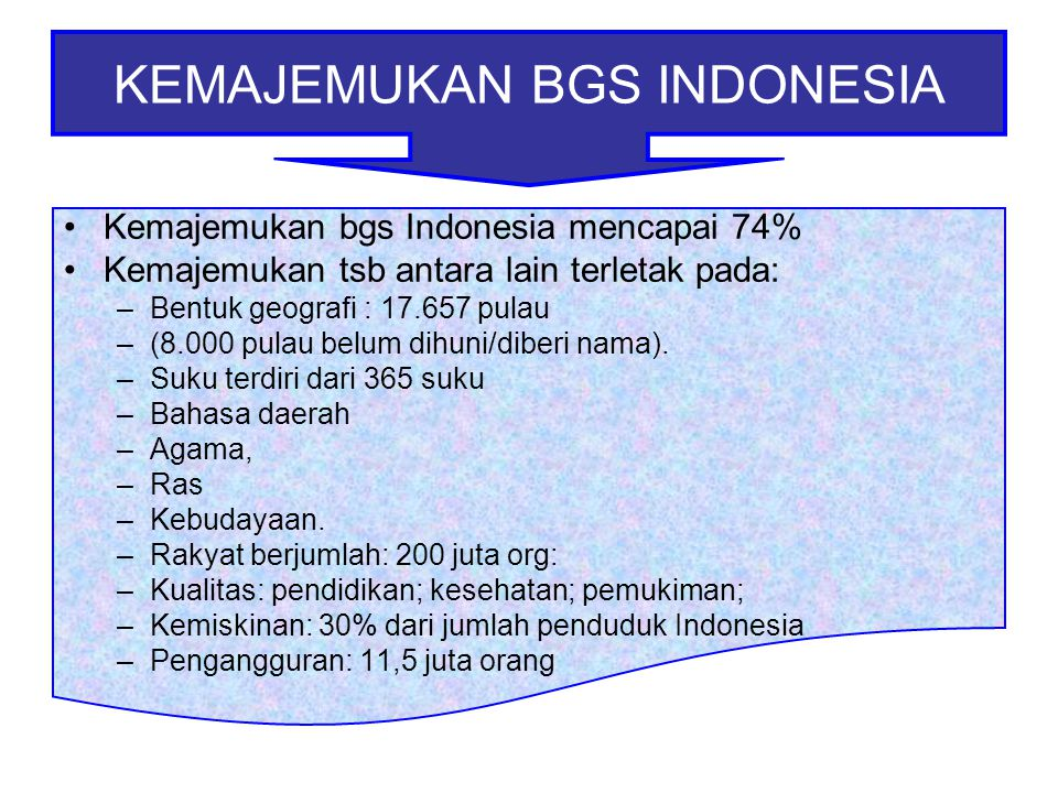KEMAJEMUKAN BGS INDONESIA