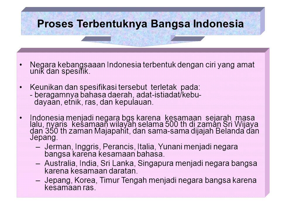Proses Terbentuknya Bangsa Indonesia