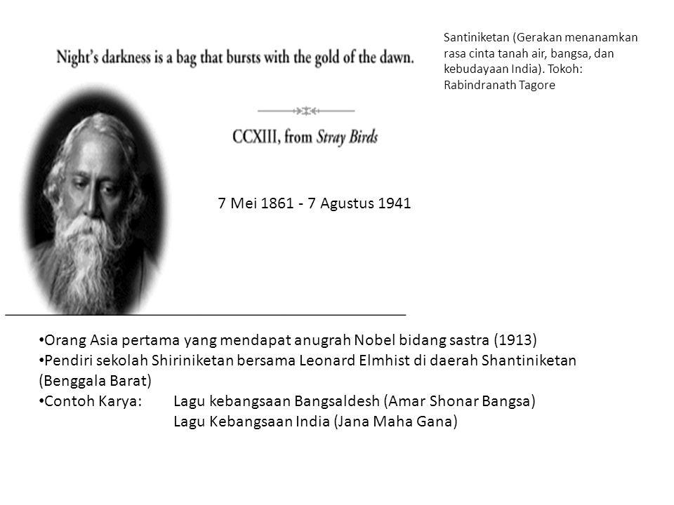 Orang Asia pertama yang mendapat anugrah Nobel bidang sastra (1913)