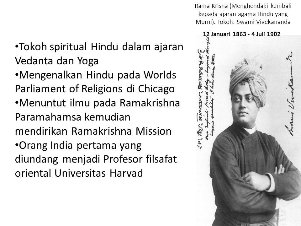 Tokoh spiritual Hindu dalam ajaran Vedanta dan Yoga