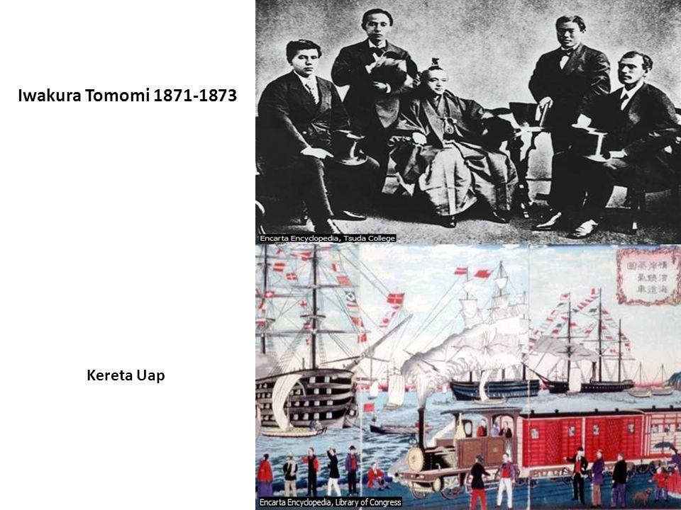 Iwakura Tomomi 1871-1873 Kereta Uap