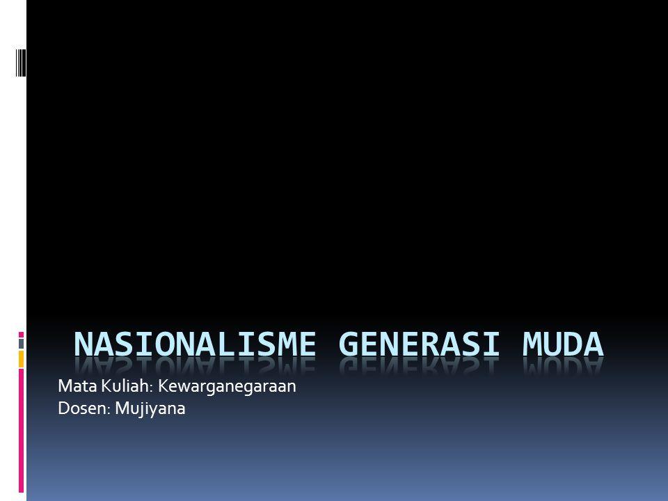 NASIONALISME GENERASI MUDA