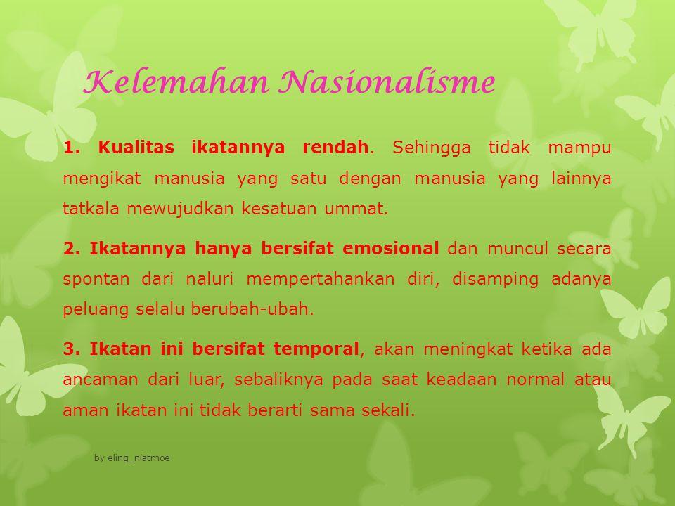 Kelemahan Nasionalisme