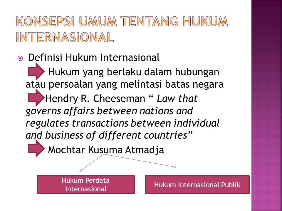 Konsepsi Umum tentang hukum internasional