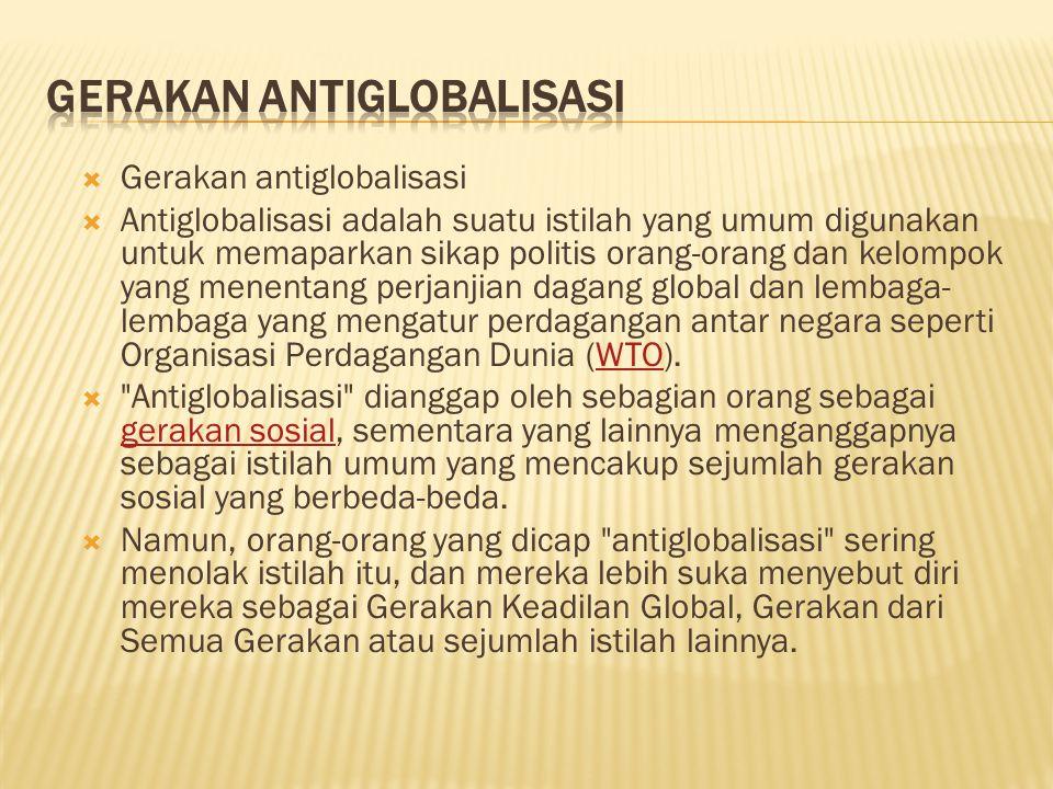 Gerakan antiglobalisasi