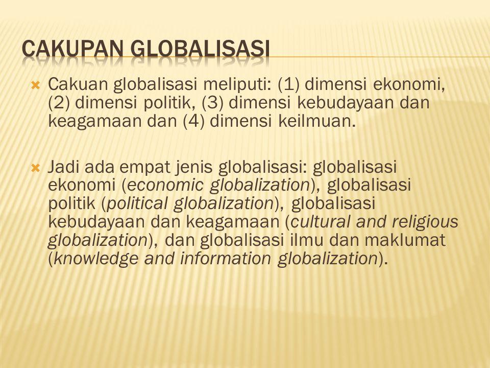 Cakupan Globalisasi