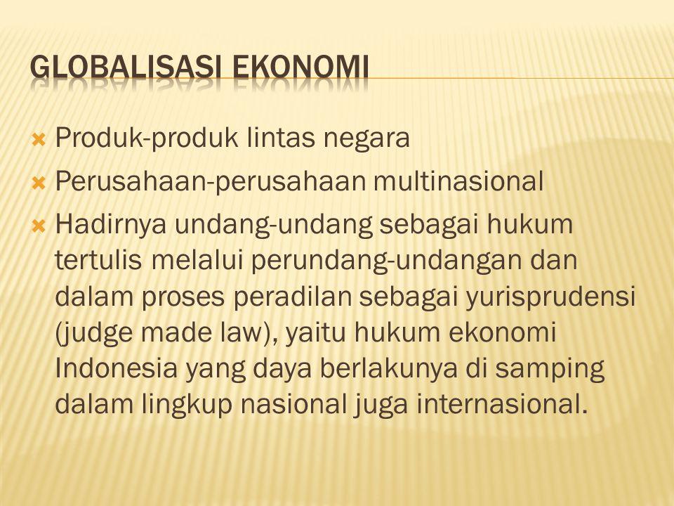 Globalisasi Ekonomi Produk-produk lintas negara