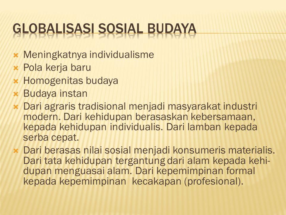 Globalisasi Sosial BUDAYA