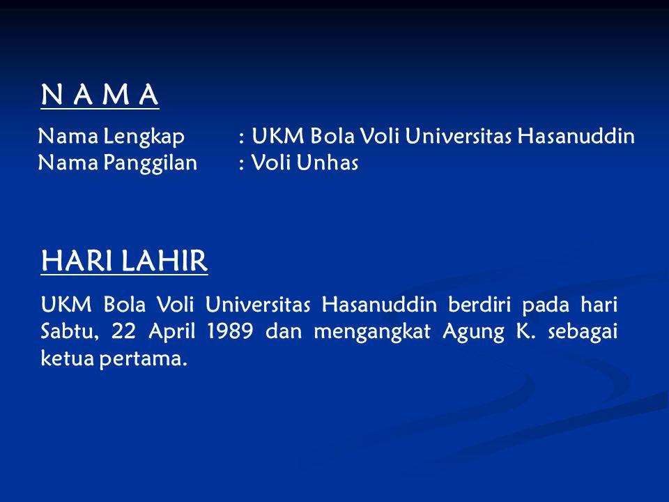 N A M A HARI LAHIR Nama Lengkap : UKM Bola Voli Universitas Hasanuddin