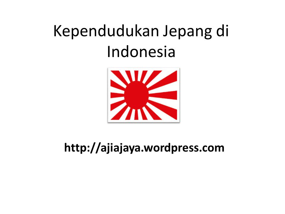 Kependudukan Jepang di Indonesia