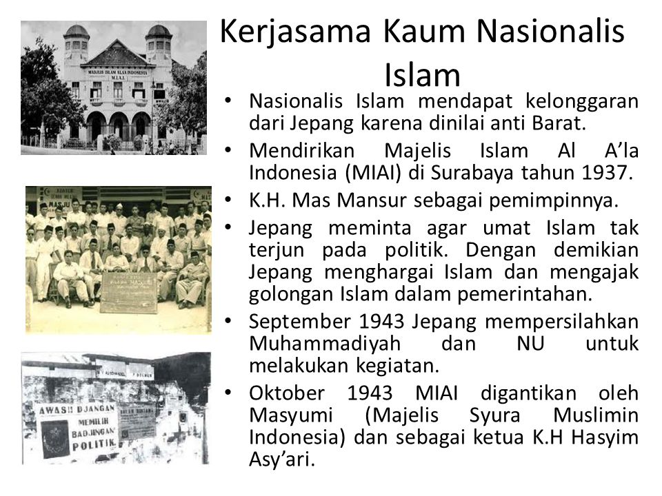 Kerjasama Kaum Nasionalis Islam