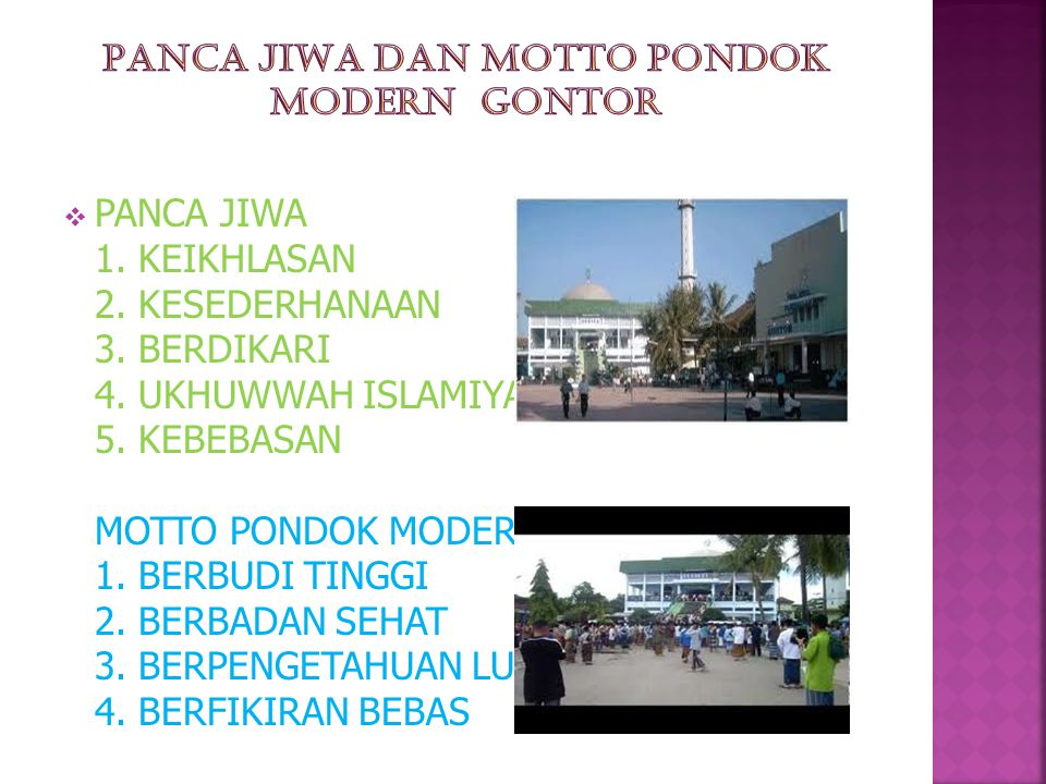 PANCA JIWA DAN MOTTO PONDOK MODERN GONTOR