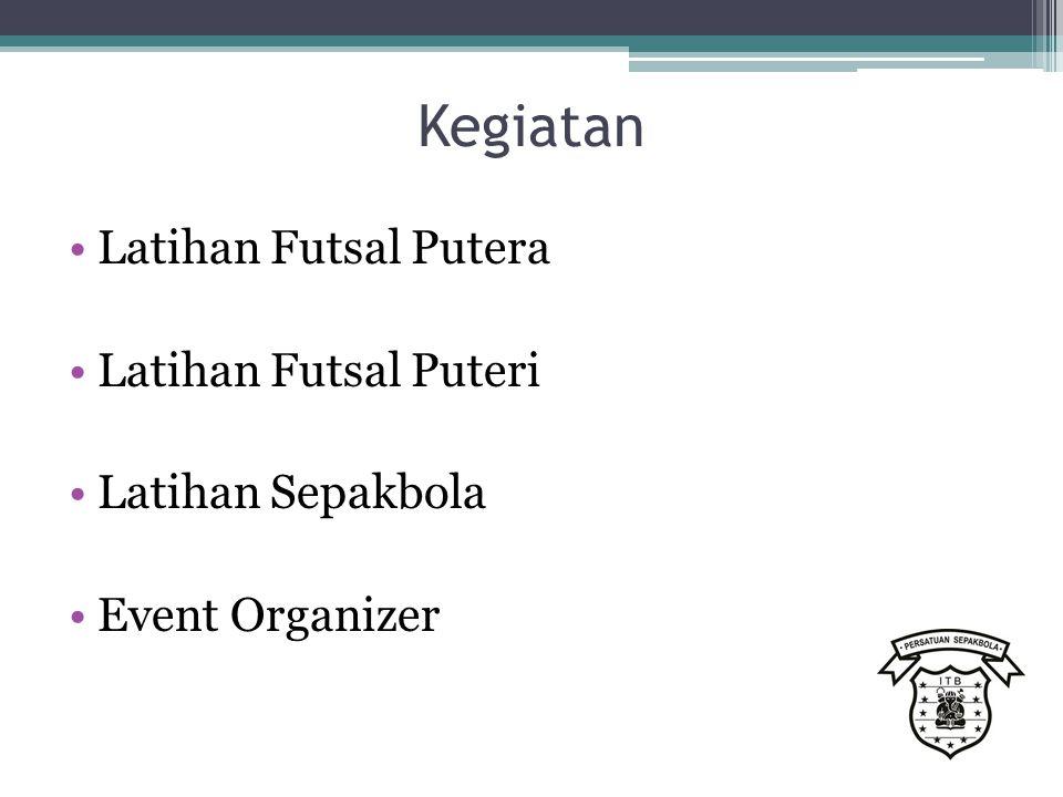 Kegiatan Latihan Futsal Putera Latihan Futsal Puteri Latihan Sepakbola