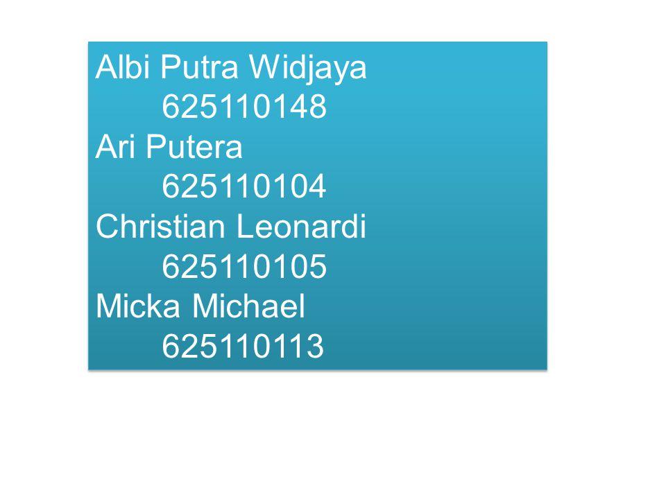 Albi Putra Widjaya 625110148 Ari Putera 625110104.