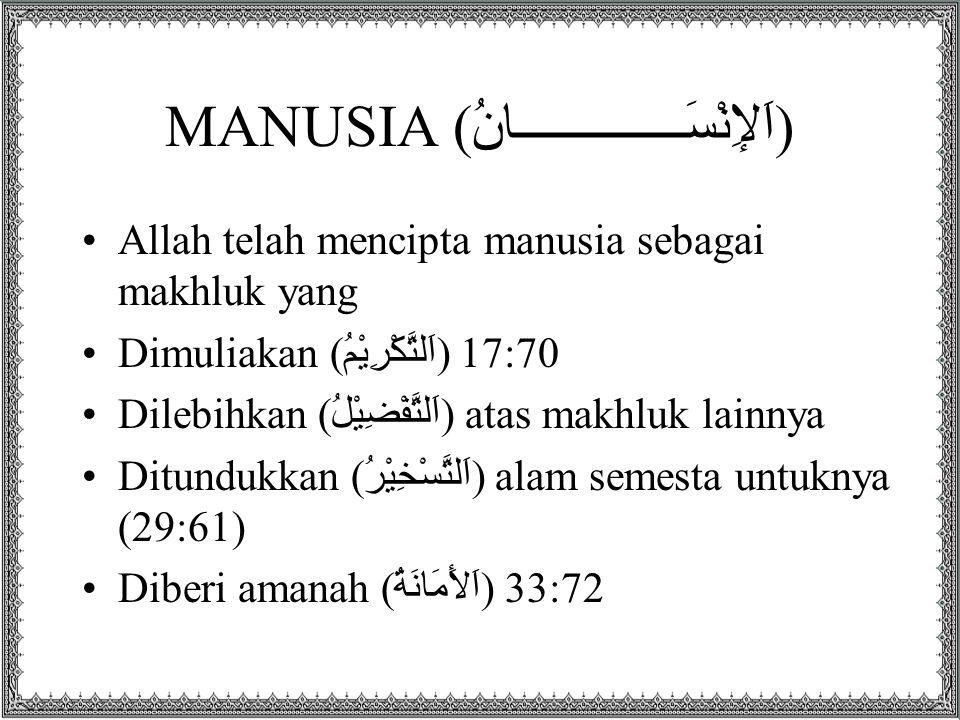 MANUSIA (اَلإِنْسَــــــــــــــانُ)