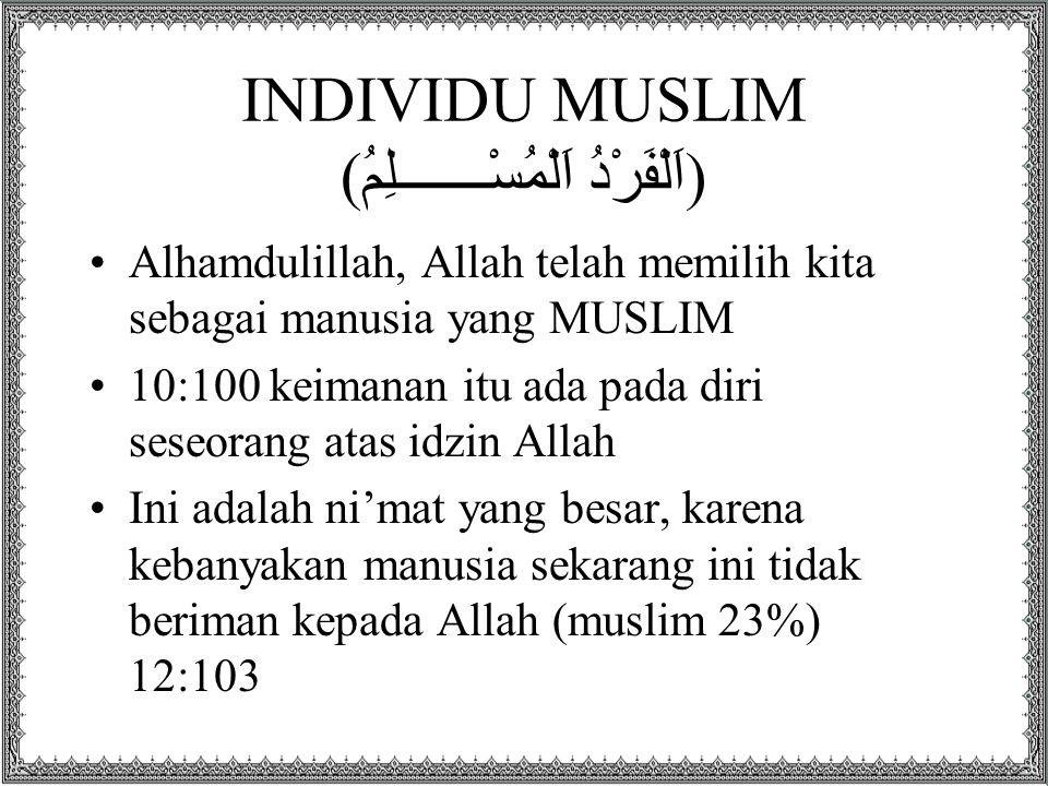 INDIVIDU MUSLIM (اَلْفَرْدُ اَلْمُسْـــــــلِمُ)
