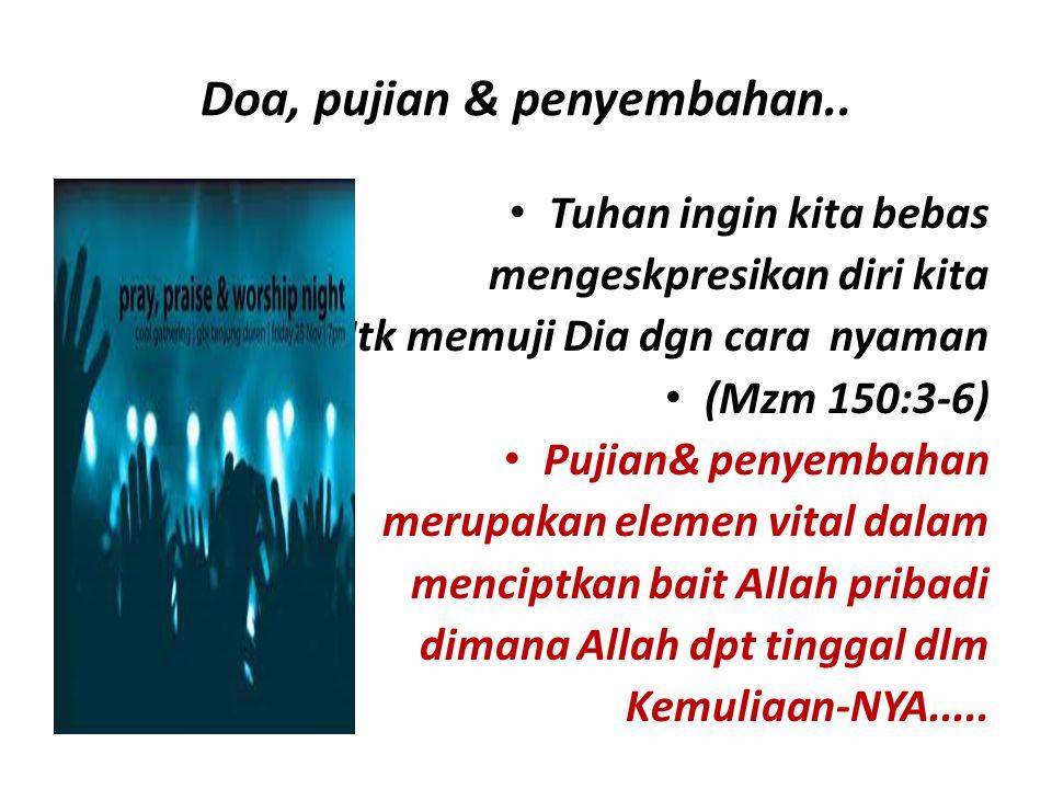 Doa, pujian & penyembahan..