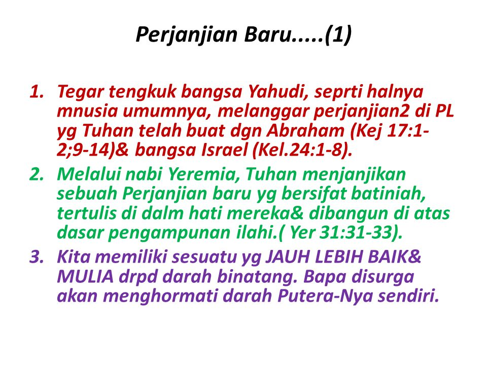 Perjanjian Baru.....(1)