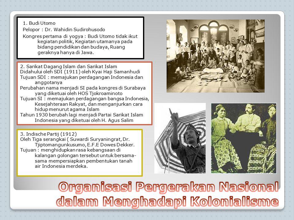 Organisasi Pergerakan Nasional dalam Menghadapi Kolonialisme